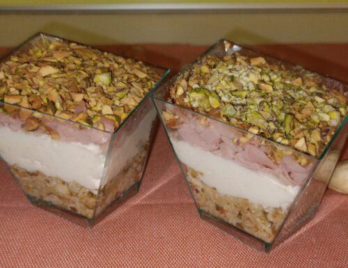 """BOX 1 – TERZO ANTIPASTO """"bicchierino cheese cake alla mortadella"""""""