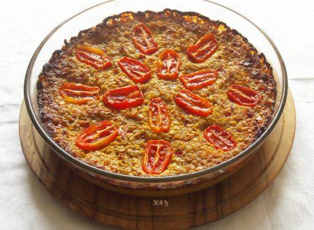 Torta di lenticchie rosse e spezie indiane