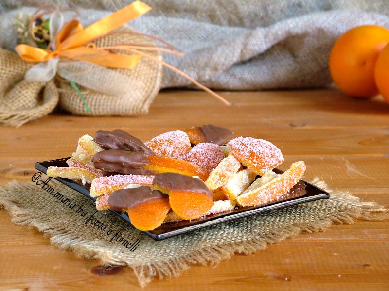 bucce di arancia candite