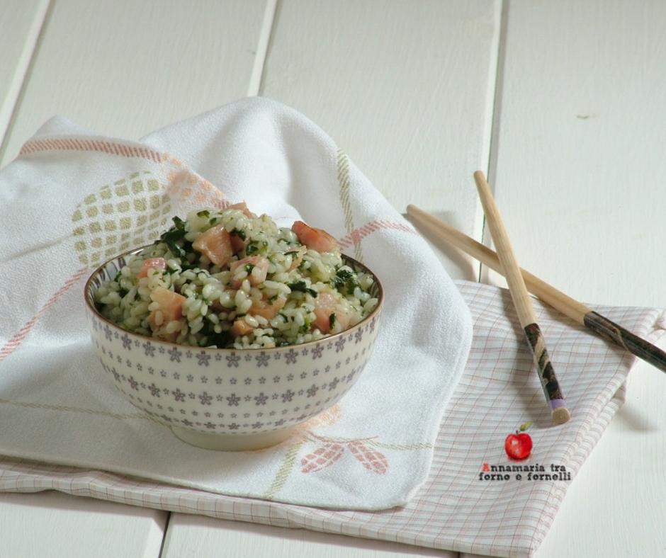risotto agli spinaci orizzontale