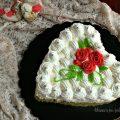 torta cuore con rose rosse 3