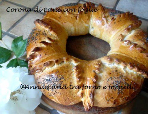 Corona di pane con foglie
