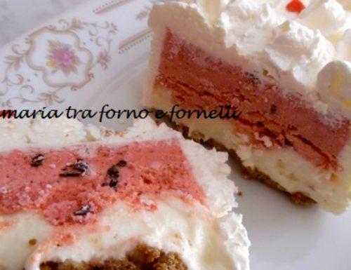 Mattonella di gelato fragola limone e panna