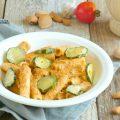 pasta con pesto ricotta e zucchine