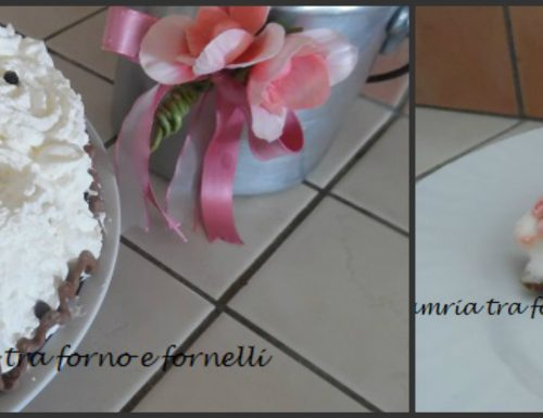 Torta gelato fragola, fiordilatte e panna