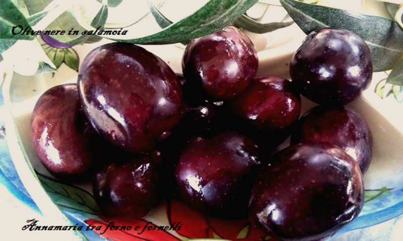 Olive nere metodo salamoia