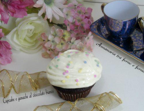 Cupcakes e ganache al cioccolato bianco