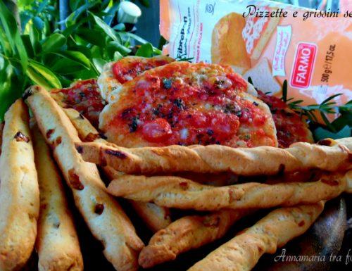 Pizzette e grissini senza glutine