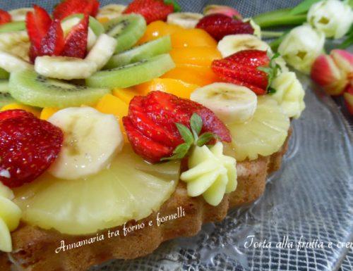 Torta alla frutta e crema pasticcera