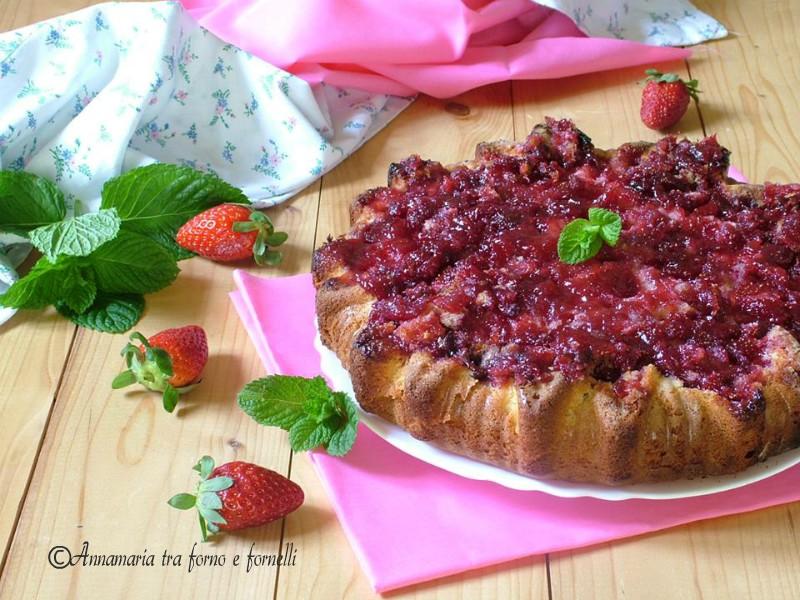 torta con confettura di fragole 6