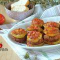 polpette con melanzane e pomodori fb