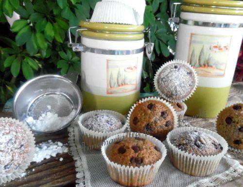 Muffin fondi di caffé e cioccolato