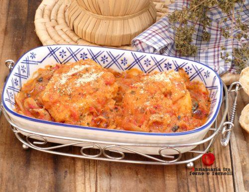 Baccala con pomodoro e cipollata