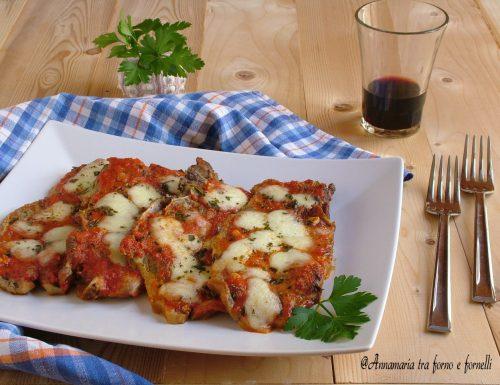 Bistecche di maiale alla pizzaiola al forno