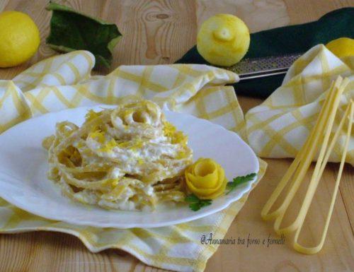 Tagliolina al limone ricotta