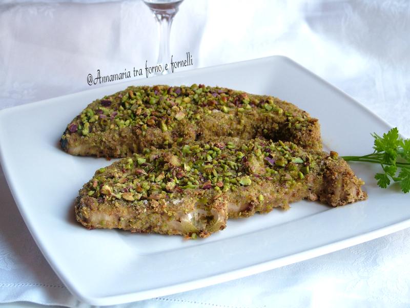 Pesce spada al forno con panatura al pistacchio 1