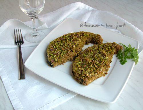 Pesce spada al forno con panatura al pistacchio