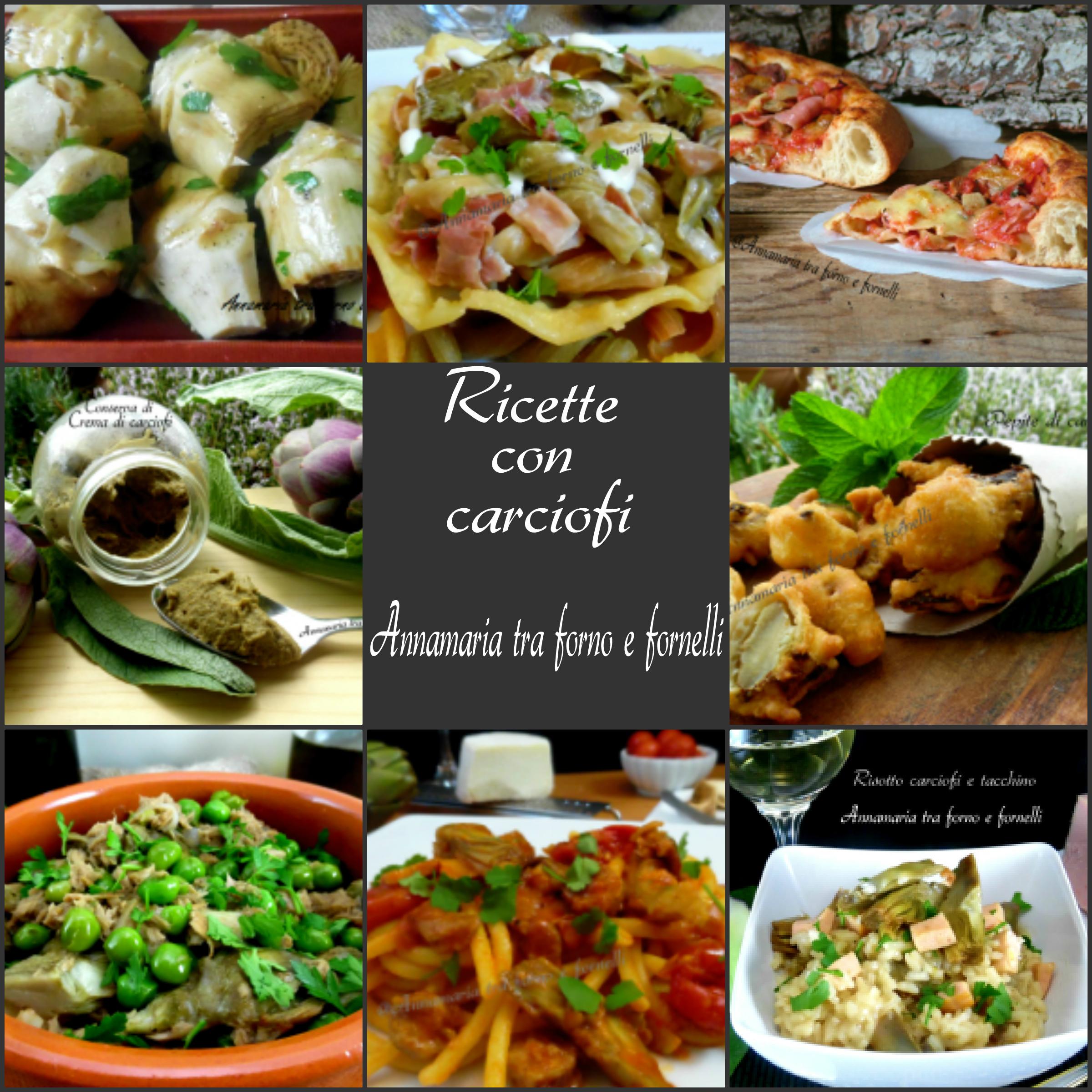 raccolta ricette con carciofi