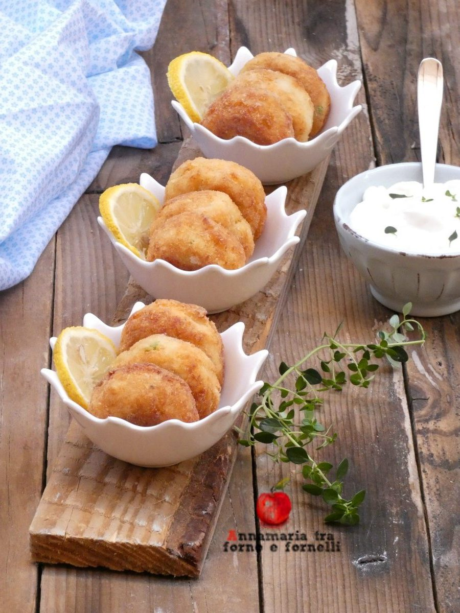 vpolpette di baccalà e patate