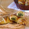 cornetti salati con ricotta e spinaci
