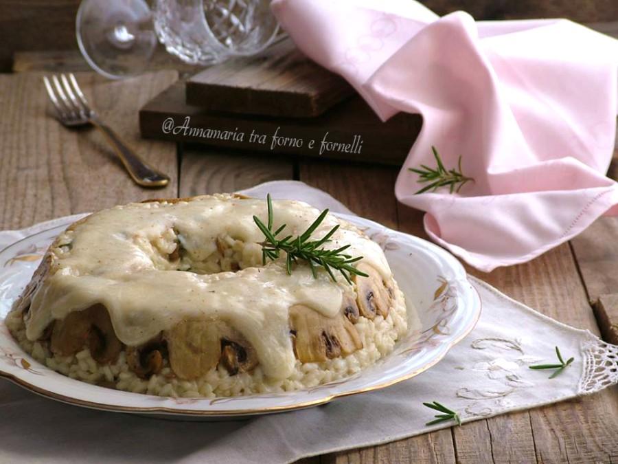 corona di riso ai funghi