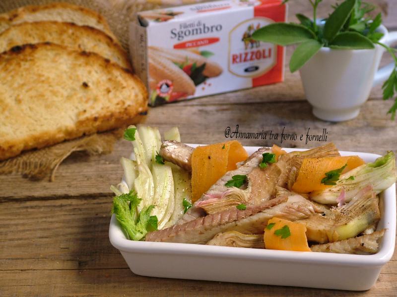 insalata di carciofi finocchi e sgombro 1