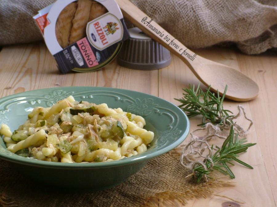 pasta cremosa zucchine tonno e patate 1