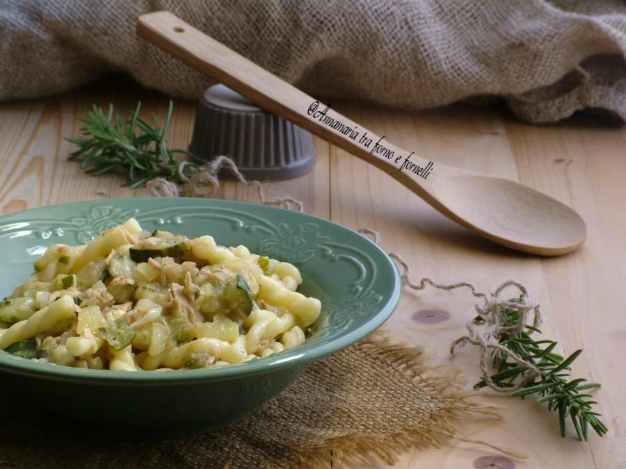 pasta cremosa zucchine tonno e patate