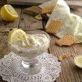biscotti e crema di ricotta al limone