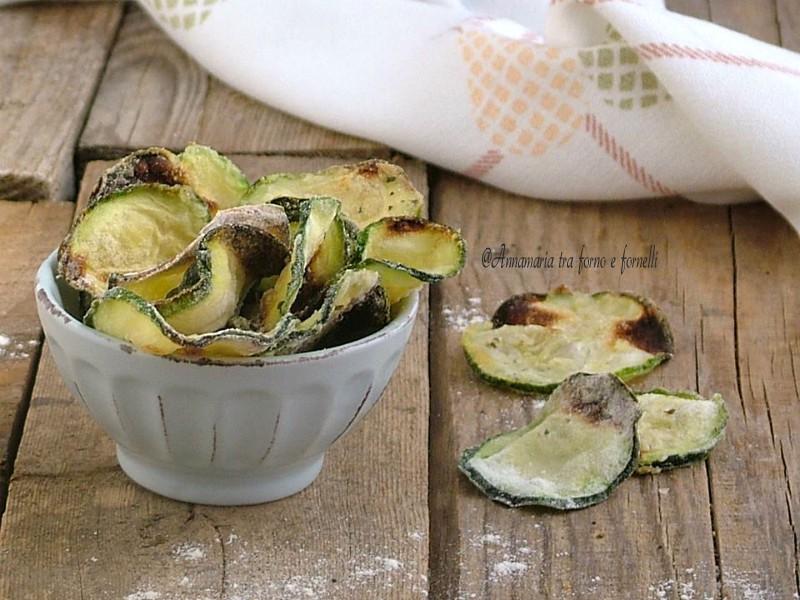 chips di zucchine cotte in forno
