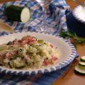risotto zucchine pancetta e provola