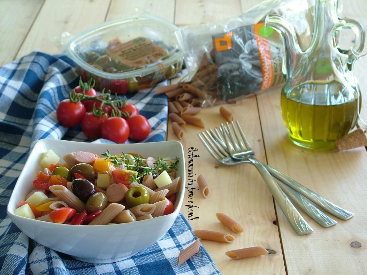 insalata di pasta con olive e wurstel 2