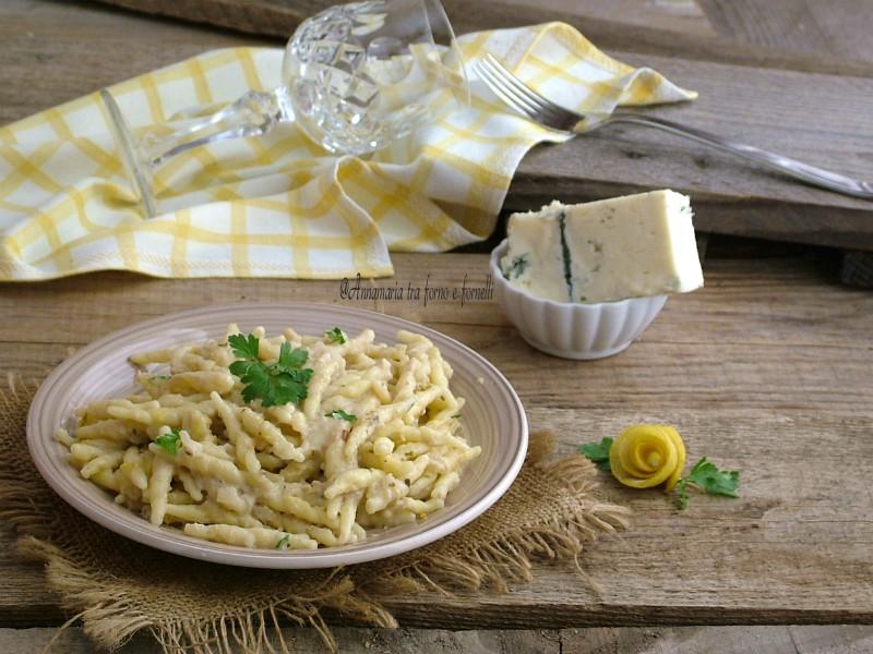 trofie cremose con limone e gorgonzola