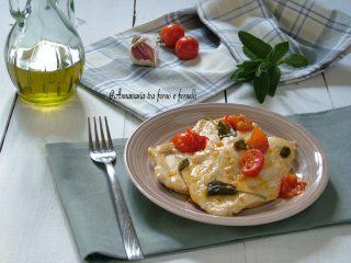 petto di pollo con capperi e pomodorini