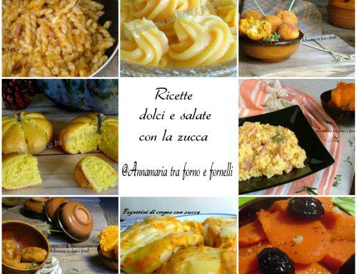 Raccolta ricette dolci e salate con la zucca