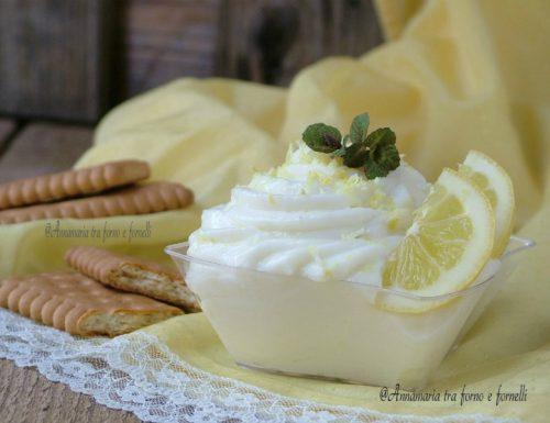 Crema di latte e ricotta al limone