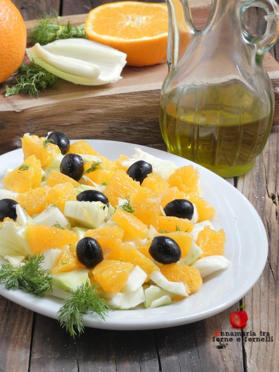 insalata di arance finocchi e olive
