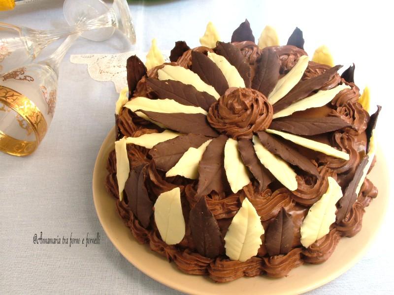 torta con foglie di cioccolato 3