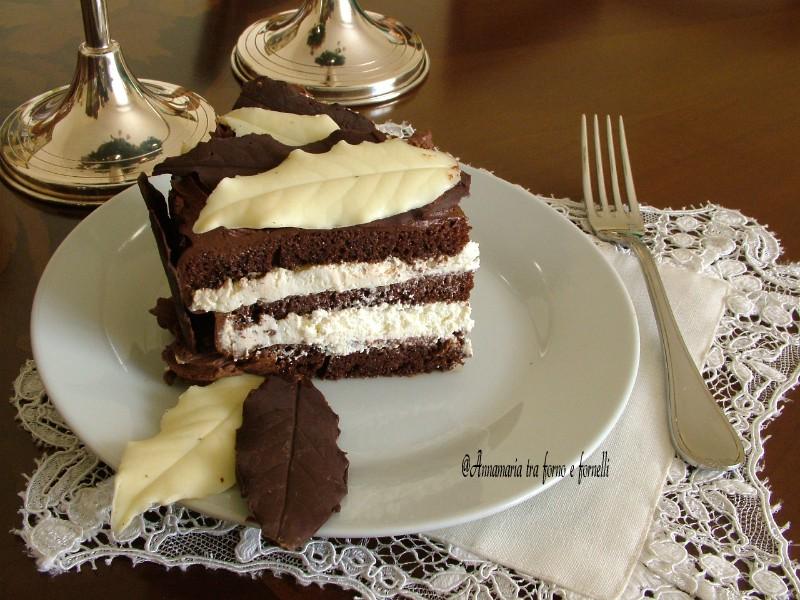 torta con foglie di cioccolato 4