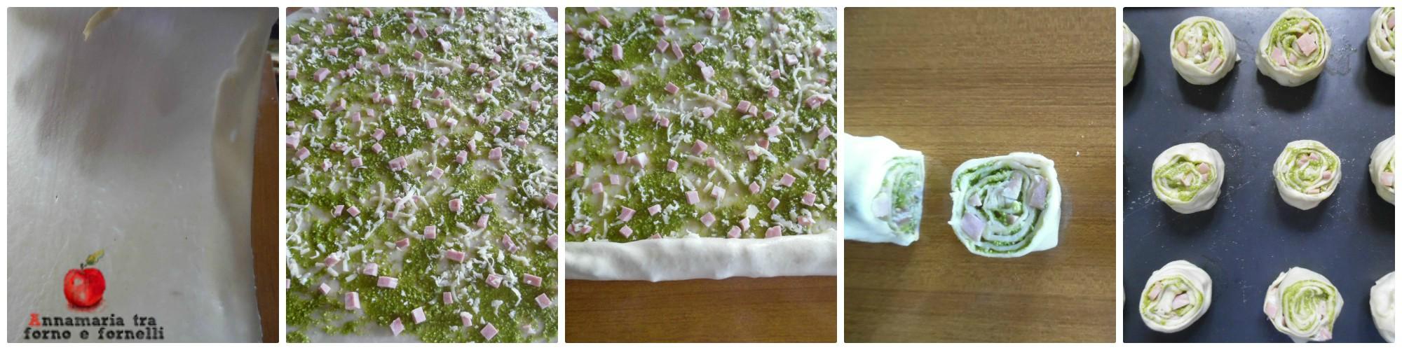 collage miscate con pesto di pistacchio