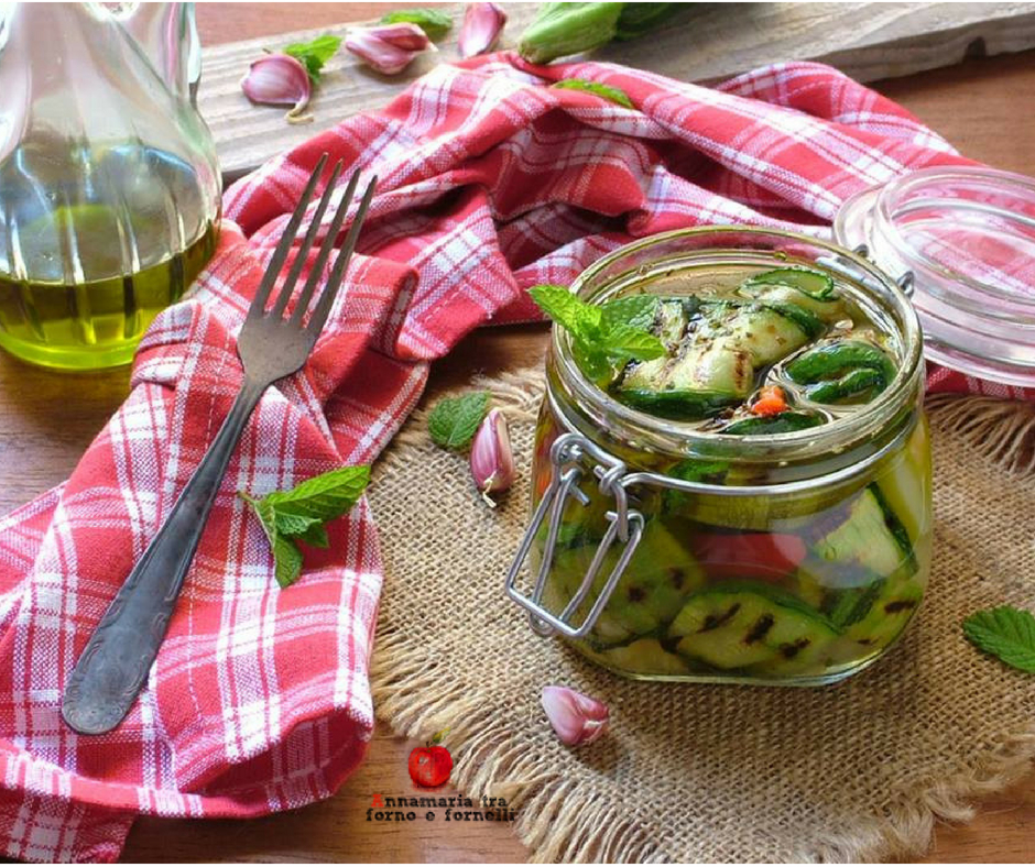 zucchine grigliate sott'olio 2