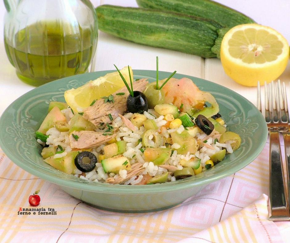 insalata di riso con tonno al limone