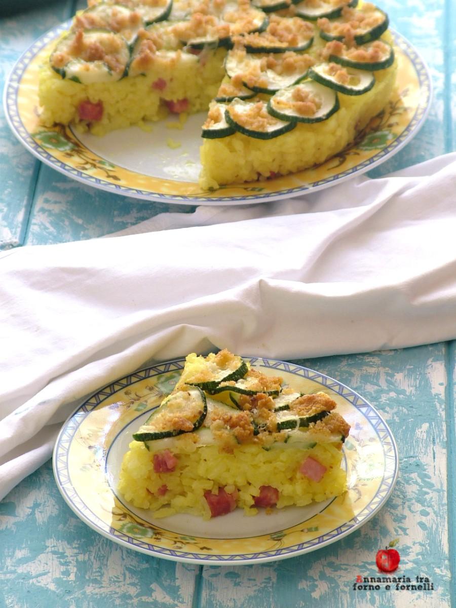 sformato di riso con zucchine verticale