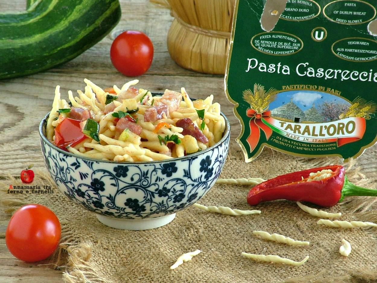 trofie con zucchine e pancetta piccanti 1