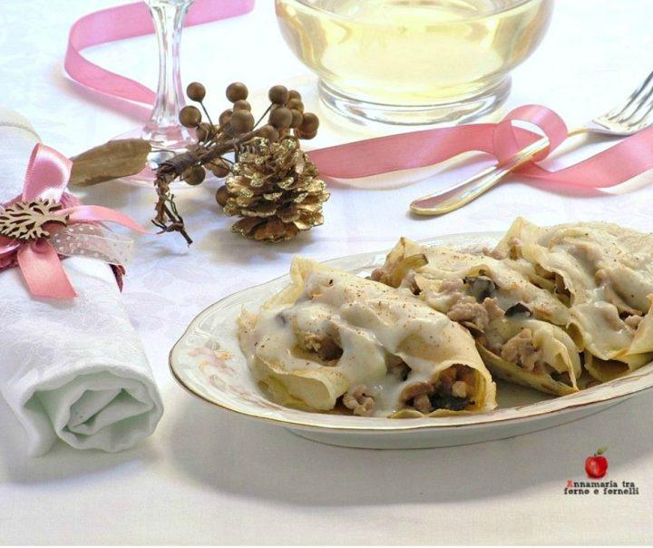crepes con carne carciofi e funghi