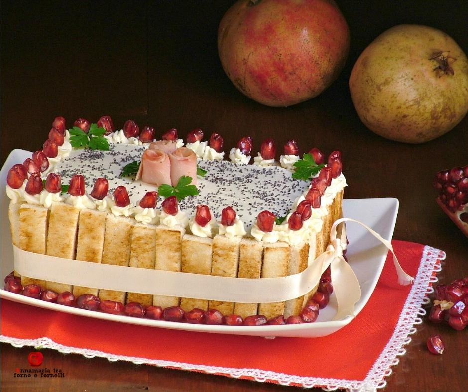 torta tramezzino con insalata russa