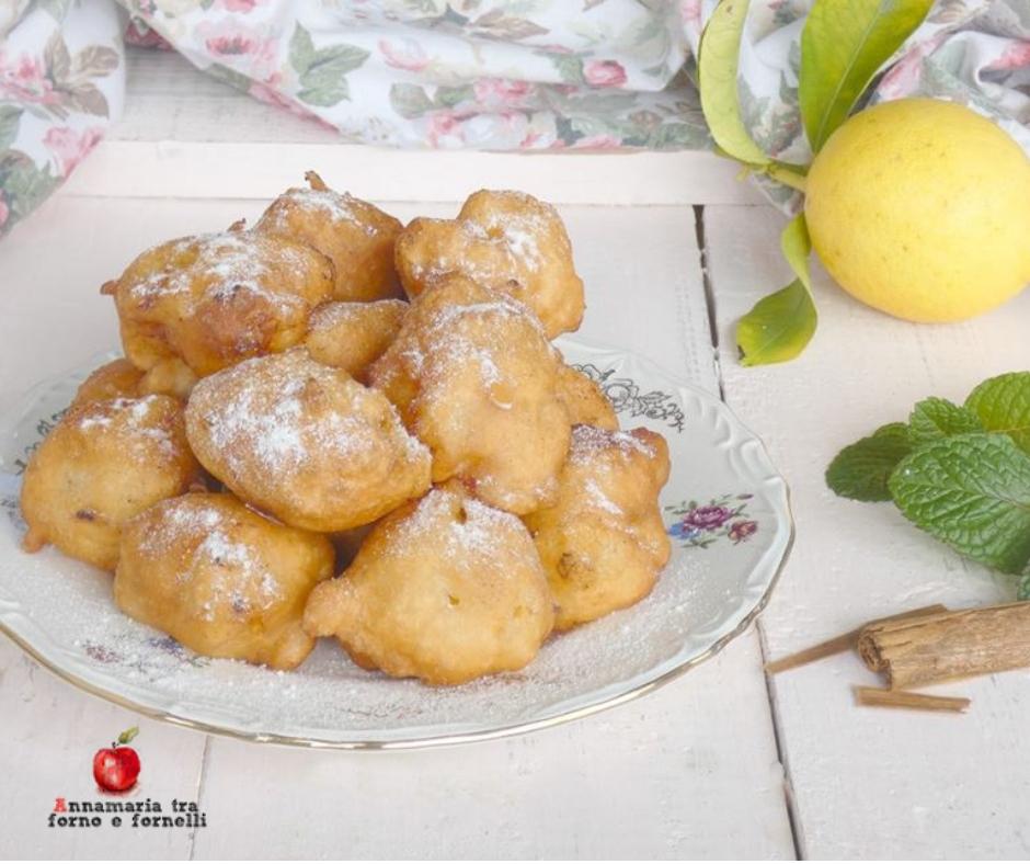 frittelle di mele al limone