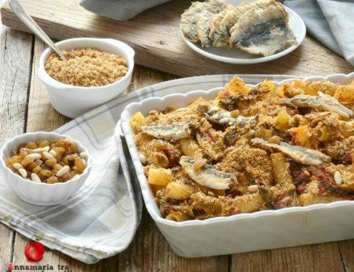 Pasta con sarde e finocchietto al forno