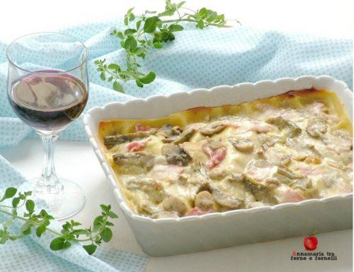 Lasagne ai carciofi e formaggi