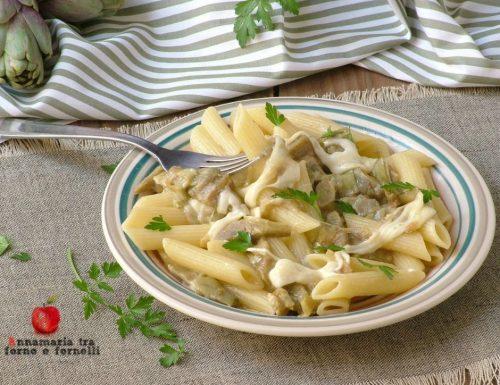 Pasta carciofi e mozzarella